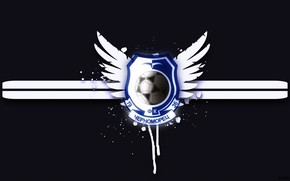 Wallpaper Football Club, Background, Football, Logo, Logo, Chernomorets, Odessa, Black, Coat of arms, Black and blue, ...