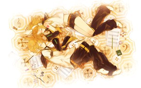 Picture children, anime, art, Vocaloid, Vocaloid, characters, sleep