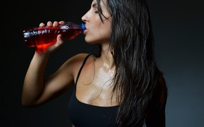 Picture wet, drink, female