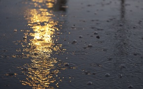 Picture drops, reflection, puddle