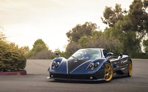 Wallpaper Pagani, Carbon, Blue, Zonda