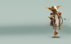 Picture fiction, art, Bjorn Hurri, Steampunk Starwars - Yoda
