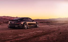 Picture design, style, black, desert, Mercedes, car