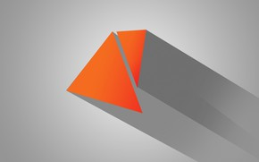 Picture line, paint, shadow, prism, triangle
