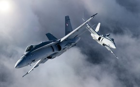 Picture bomber, Hornets, carrier-based fighter, FA-18C