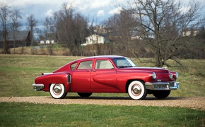 Picture auto, red, retro, blur, red, Sedan, metallic, Tucker