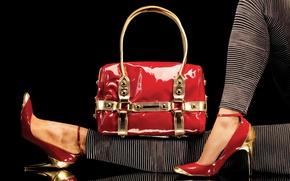 Picture feet, shoes, bag, fashion, fashion, legs, style, bag
