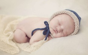 Picture sleep, baby, sleeping, cap, baby