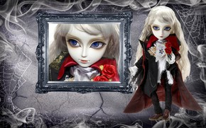 Picture rose, doll, vampire, Gothic