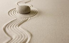Wallpaper sand, stones, zen, sand, stone