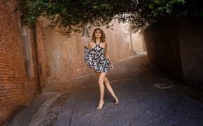 Picture pose, mood, street, dress, lane, Marcela Zuniga