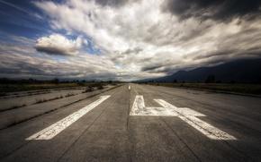 Picture airport, concrete