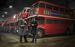 Picture retro, England, buses