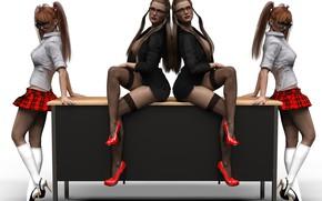 Picture women, girls, heels