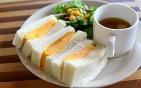 Picture tea, Breakfast, sandwich