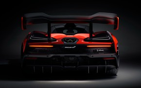 Picture McLaren, spoiler, rear view, 2018, Senna