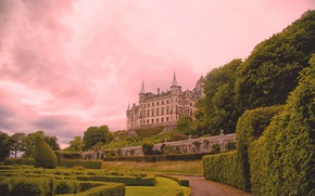 Picture Park, castle, Scotland, the bushes, Scotland, Sutherland, Dunrobin Castle, Castle Dunrobin, Sutherland