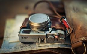 Wallpaper camera, background, Fuji X100T