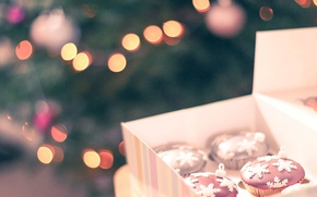 Picture holiday, new year, cakes, cupcakes