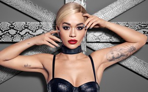Wallpaper portrait, singer, Rita Ora
