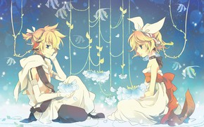 Picture anime, boy, art, girl, Vocaloid, Vocaloid, characters