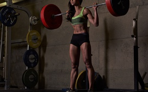 Wallpaper technique, female, fitness, Workout, weight lifting, brunette, workout