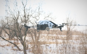 Picture winter, forest, technology, forest, winter, drone, technology, quadcopter, drone quadrocopter, radio control, radio control