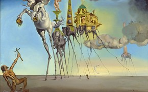Wallpaper surrealism, picture, Salvador Dali, Salvador Dali, The Temptation Of St. Anthony