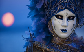 Picture night, feathers, mask, carnival