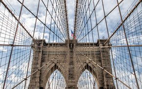Picture USA, New York, Brooklyn Bridge