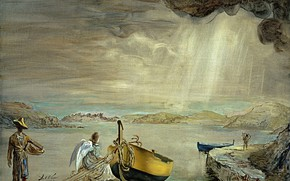 Picture surrealism, boat, picture, Salvador Dali, Salvador Dali, Angel Port Ligata