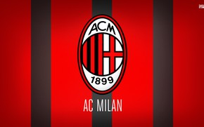 Picture wallpaper, sport, logo, football, Italia, Milan, Serie A