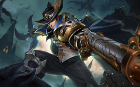 Picture gun, guy, hunter, Arena of Valor
