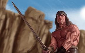 Wallpaper Conan, sword, Conan the Barbarian, warrior