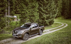 Picture auto, forest, Renault, Alaskan, Worldwide