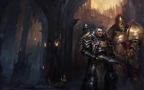 Wallpaper Warhammer 40 000, Vaults of Terra, warriors