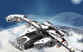 Picture space, transport, planet, aircraft, Jet Fly