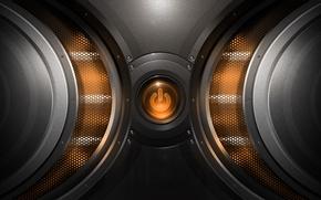 Picture mesh, button, power, orange