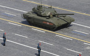 Picture Moscow, Soldiers, Tank, Victory Parade, Armata, T-14