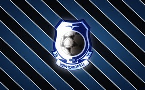 Picture Black, Blue, Strip, Sport, Logo, Football, Background, Logo, Coat of arms, Club, Odessa, Chernomorets, 1936, ...