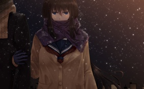 Picture Winter, Snow, Girl, Snowflakes, Anime, Anime, Winter, cold, Show, Dietrich, SweetDevil, Freezing, Rose J., tsundere_kenpi, …