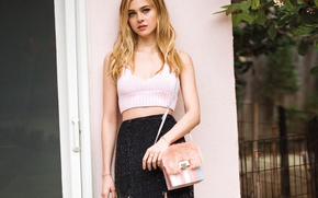 Picture skirt, makeup, figure, actress, hairstyle, blonde, handbag, t-shirt, photoshoot, 2015, Nicola Peltz, Nicola Peltz, ASOS, …