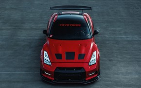 Wallpaper R35, Nissan, RED, Asphalt, Toyo, GTR