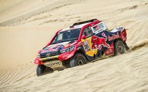 Picture Sand, Auto, Sport, Machine, Speed, Race, Toyota, Hilux, Rally, Dakar, Dakar, SUV, Rally, Sport, Toyota, …