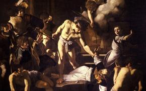 Picture picture, Caravaggio, mythology, Michelangelo Merisi da Caravaggio, The Martyrdom Of St. Matthew