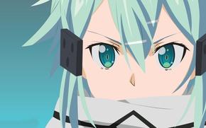 Picture girl, anime, face, sniper, manga, Sword Art Online, SAO, light novel, Gun Gale Online, GGO, …