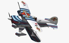 Wallpaper biplane, 3D model, Pitts S1 Martini