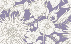 Picture flowers, vector, colorful, pattern, floral