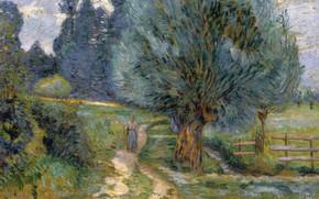 Picture landscape, picture, impressionism, Arman Hyomin, Armand Guillaumin, Walk The Shore Orge
