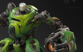 Picture robot, Epic Games, Paragon, Crunch for Paragon, Gabriel Wigierski